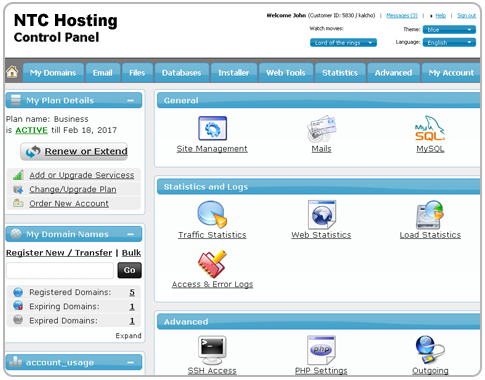 The Official Blog of NTC Hosting » Blog Archive A new point